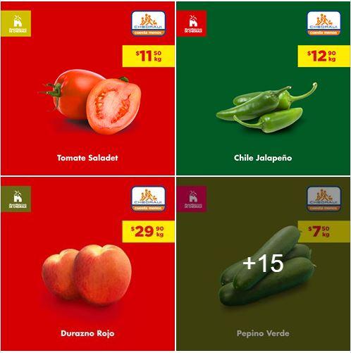 Chedraui: Ofertas Frutas y Verduras 11 y 12 de Junio 2019