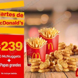 Cupones Martes de McDonald's 18 de Junio 2019