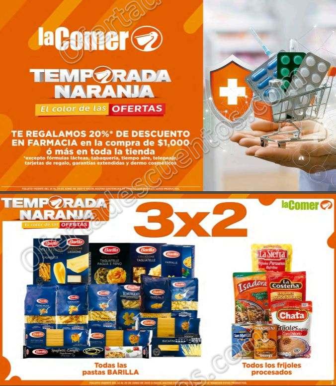Folleto Ofertas Temporada Naranja 2019 La Comer del 14 al 20 de Junio