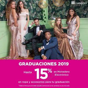 Graduaciones Liverpool 2019: Hasta 15% de bonificación