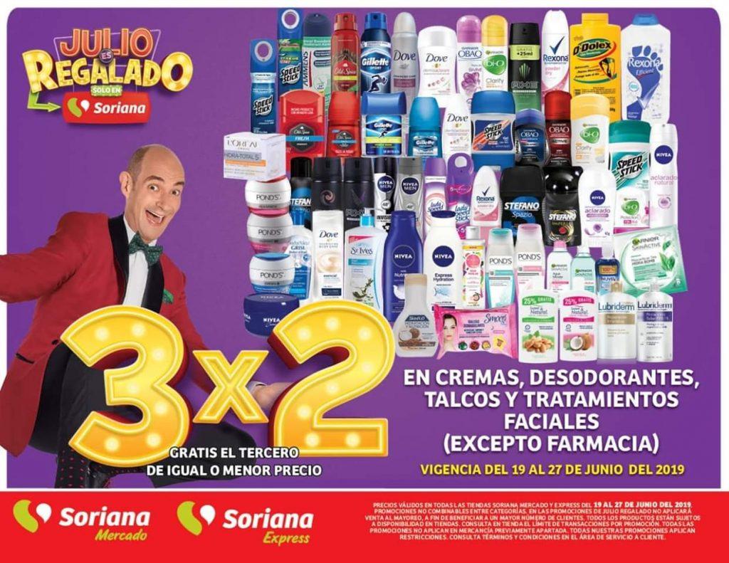 Oferta Estelar Julio Regalado 2019: 3×2 en Cremas, Desodorantes, Talcos y Tratamientos Faciales