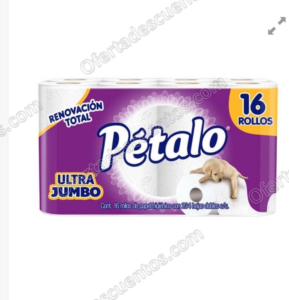 Julio Regalado 2019: Papel Higiénico Pétalo Ultra Jumbo 16 rollos $37