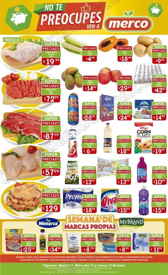 Merco: Ofertas en Frutas y Verduras del 11 al 13 de Junio 2019