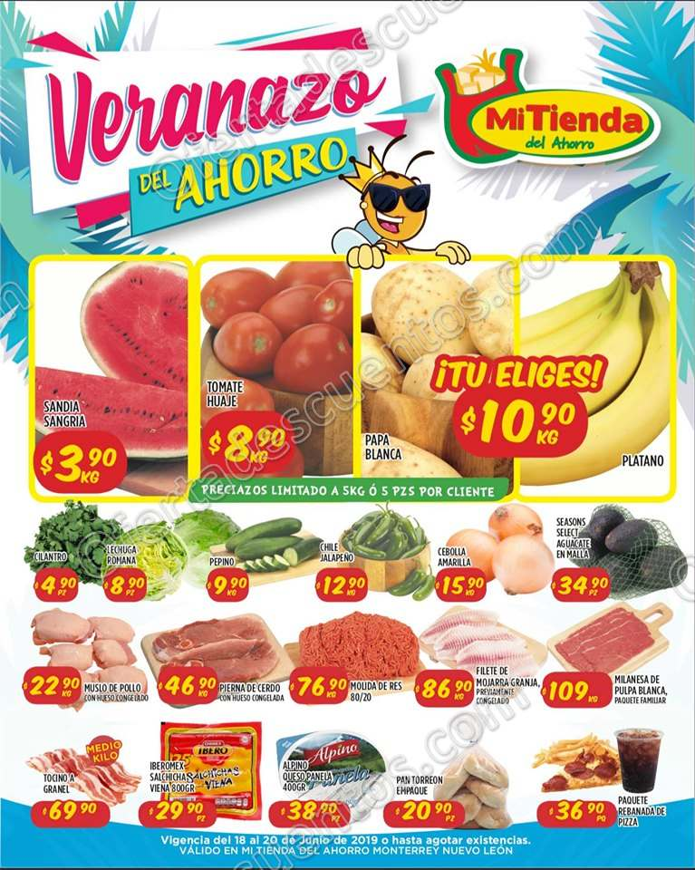 Mi Tienda del Ahorro: Ofertas Frutas y Verduras del 18 al 20 de Junio 2019