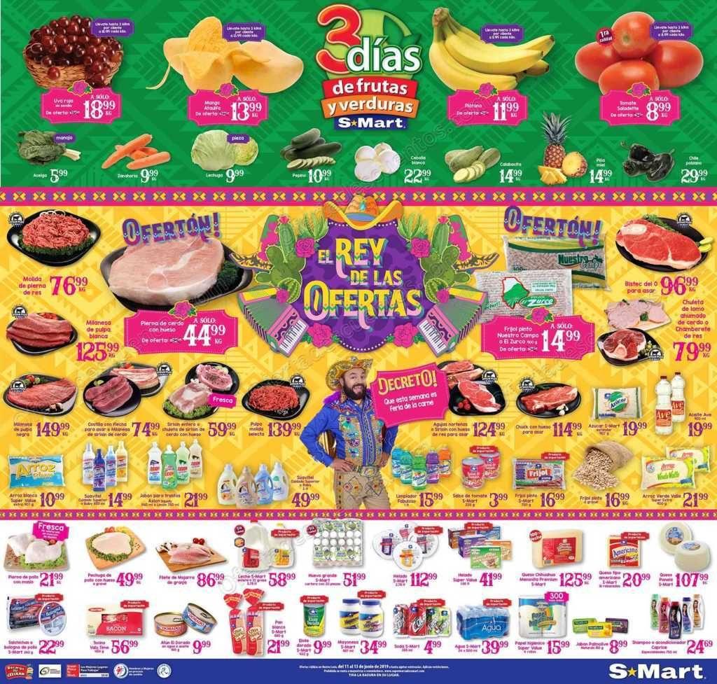 S-Mart: 3 Días de Ofertas en Frutas y Verduras del 11 al 13 de Junio 2019