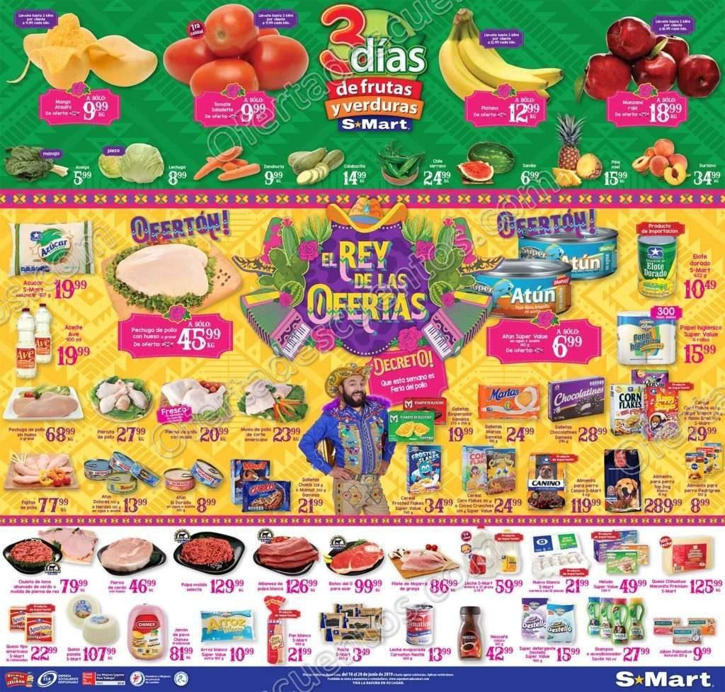 S-Mart: 3 Días de Ofertas en Frutas y Verduras del 18 al 20 de Junio 2019
