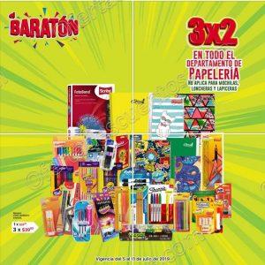 Baratón Del Sol: 3×2 en Toda la Papelería del 5 al 8 de Julio 2019
