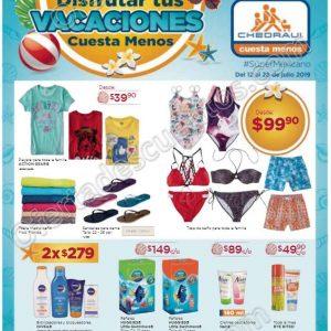 Chedraui: Folleto de Promociones Disfrutar tus Vacaciones Cuesta Menos del 12 al 26 de Julio 2019
