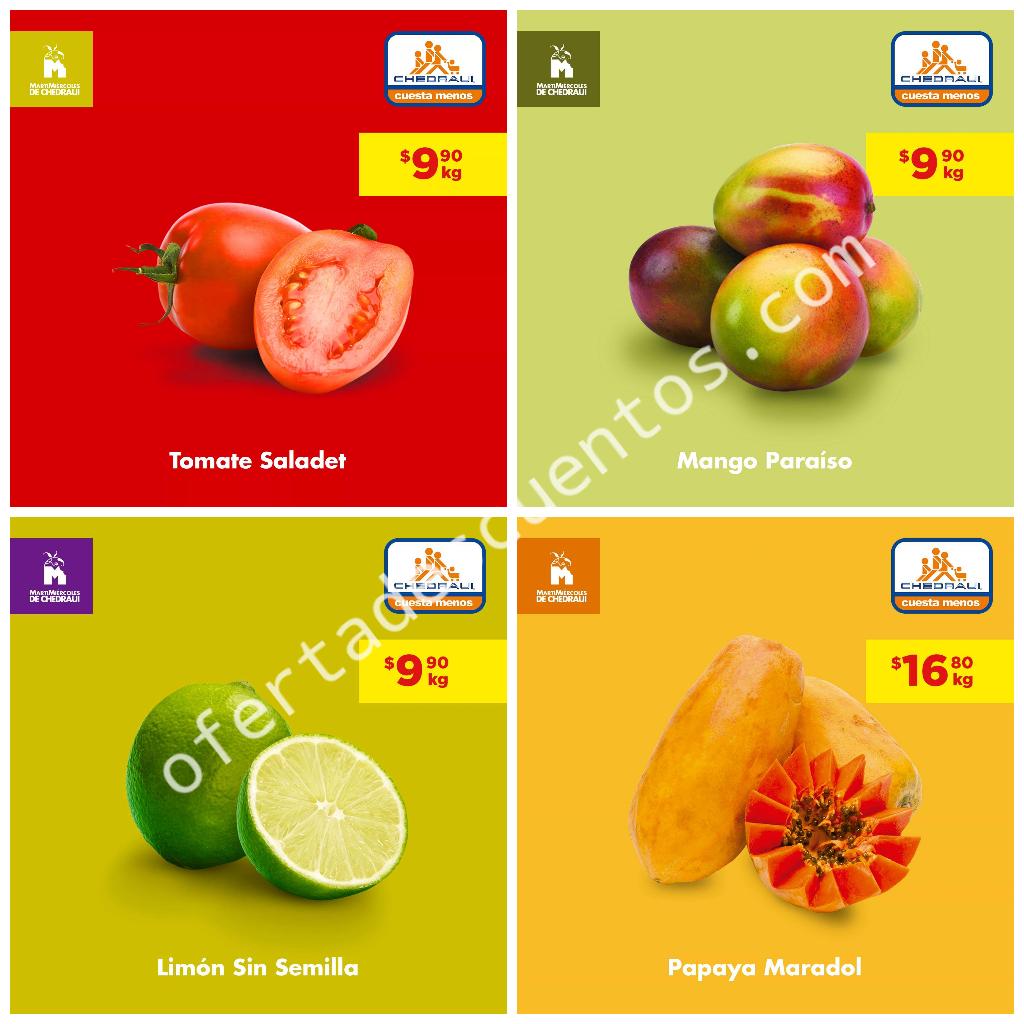 Chedraui: Ofertas Frutas y Verduras 23 y 24 de Julio 2019