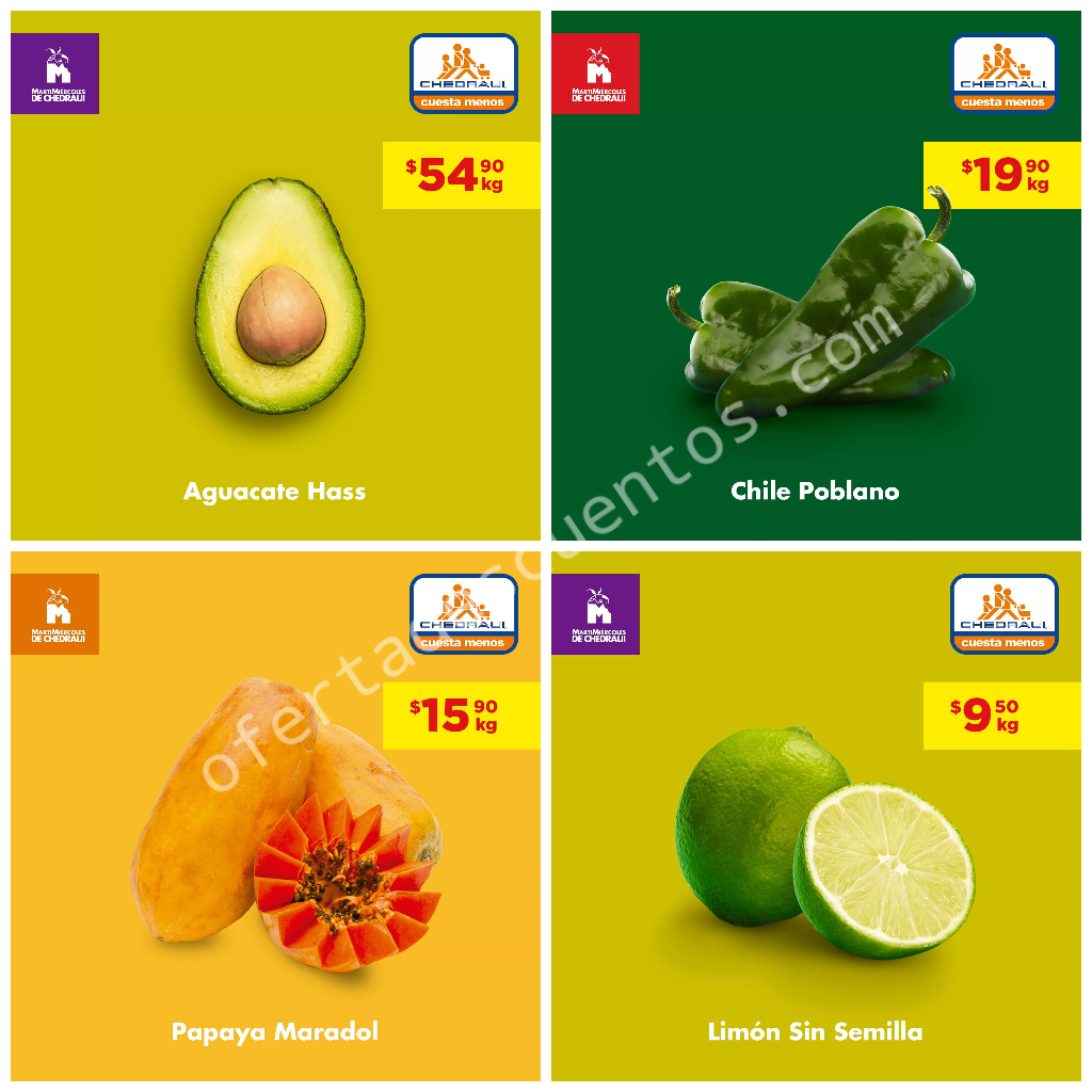 Chedraui: Ofertas en Frutas y Verduras 30 y 31 de Julio 2019
