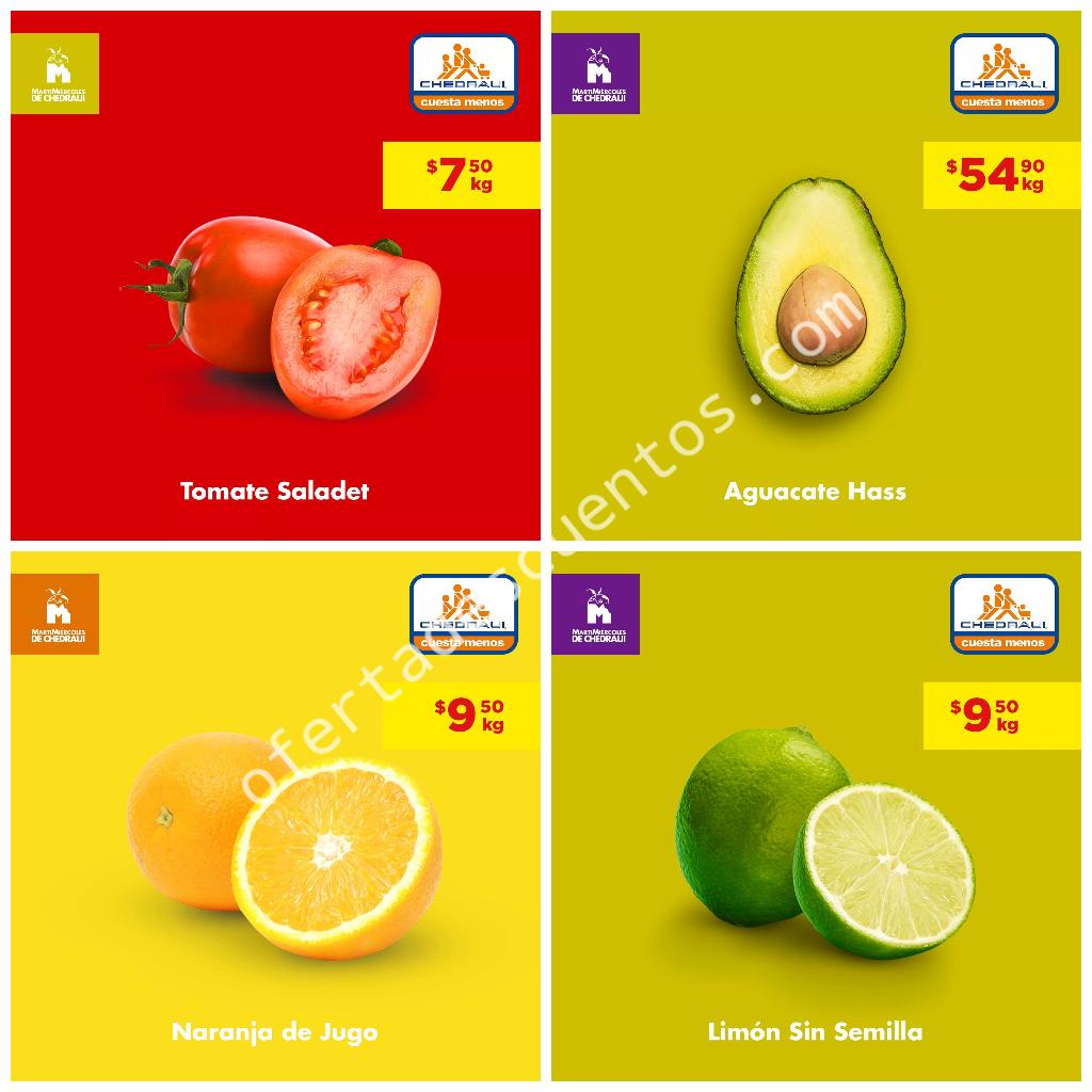 Chedraui: Frutas y Verduras 9 y 10 de Julio 2019