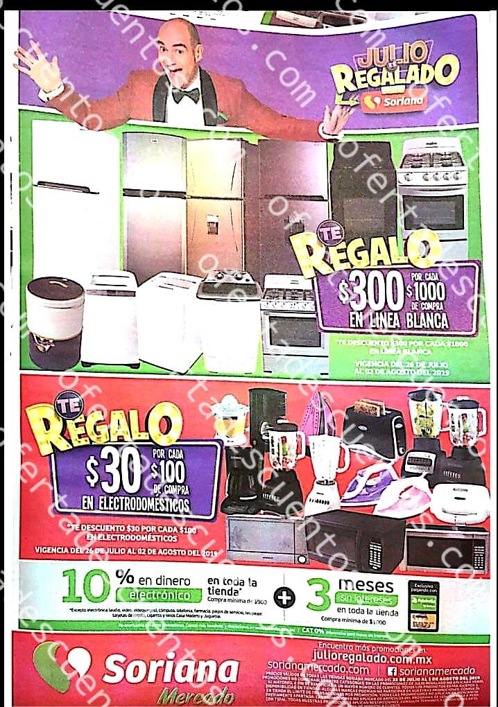 Folleto Ofertas Julio Regalado 2019 Soriana Mercado del 26 de Julio al 1 de Agosto