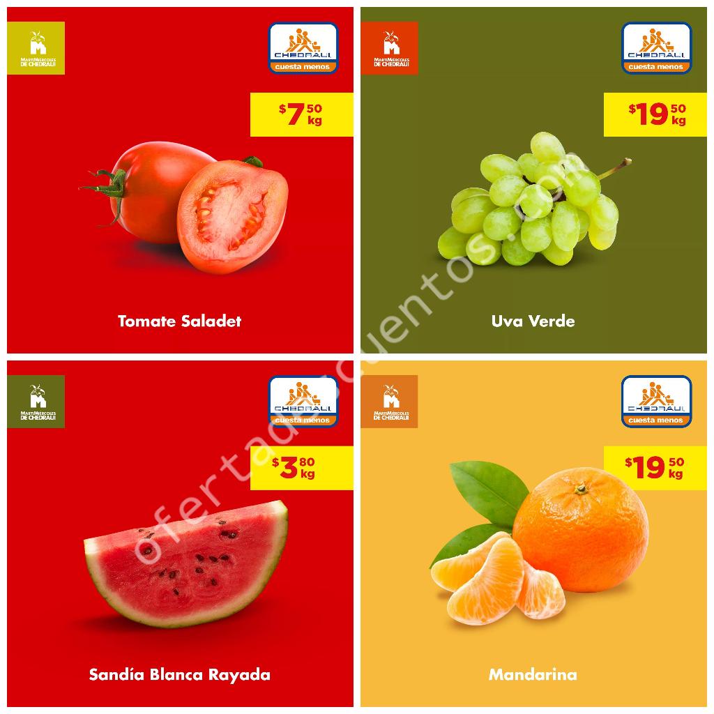 Chedraui: Frutas y Verduras 16 y 17 de Julio 2019