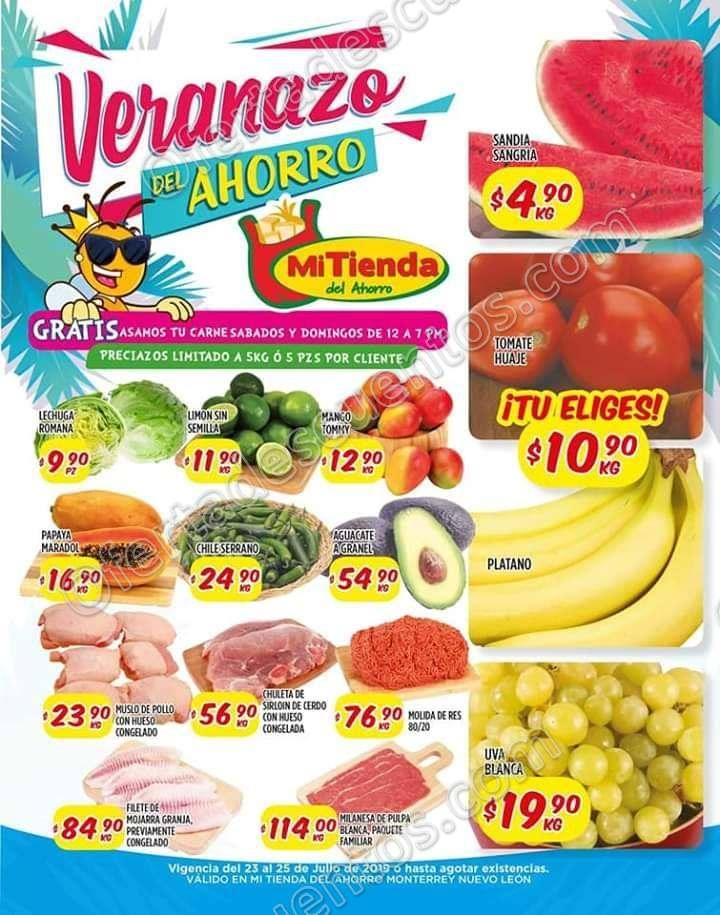 Mi Tienda del Ahorro: Ofertas Frutas y Verduras del 23 al 25 de Julio 2019