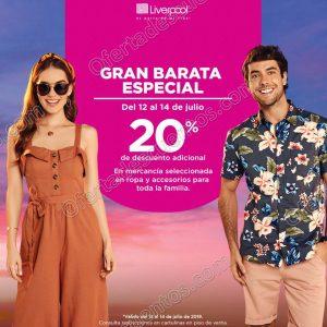 Gran Barata Especial Liverpool: 20% de descuento adicional en ropa y accesorios del 12 al 14 de Julio 2019