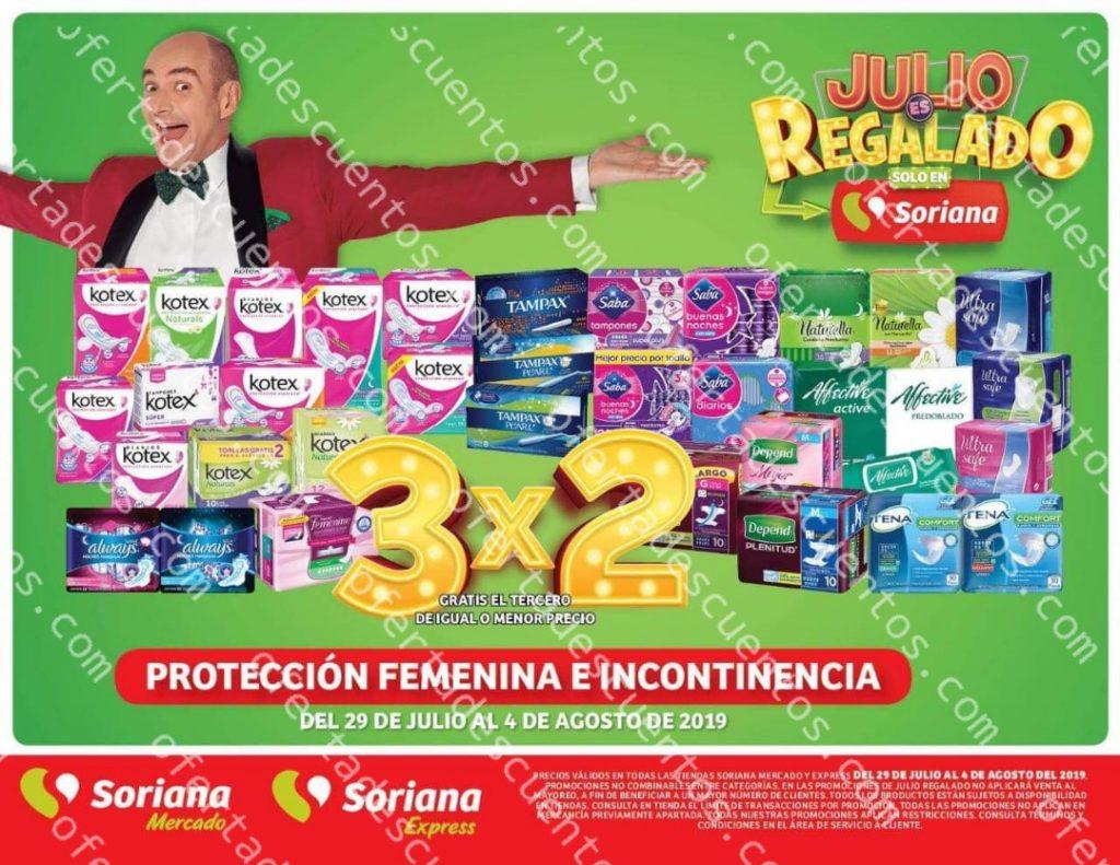 Oferta Estelar Julio Regalado 2019: 3×2 en Protección Femenina e Incontinencia del 29 de Julio al 4 de Agosto