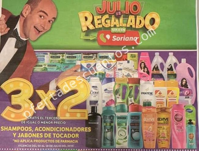 Oferta Estelar Julio Regalado 2019: 3×2 en Shampoos, Acondicionadores y Jabones de Tocador al 18 de Julio