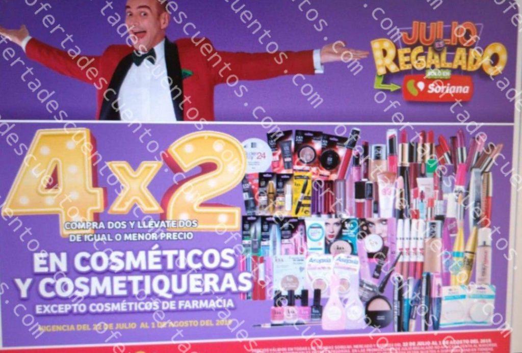 Oferta Estelar Julio Regalado 2019: 4×2 en Todos los Cosméticos y Cosmetiqueras del 22 de Julio al 1 de Agosto