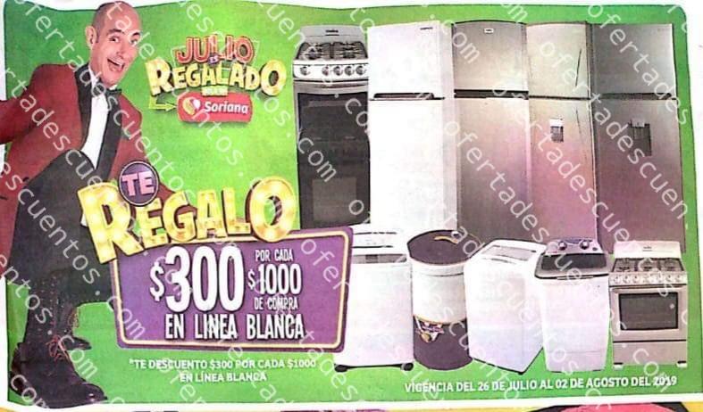 Oferta Estelar Julio Regalado 2019: $300 de descuento por cada $1,000 de compra en Línea Blanca del 26 de Julio al 2 de Agosto