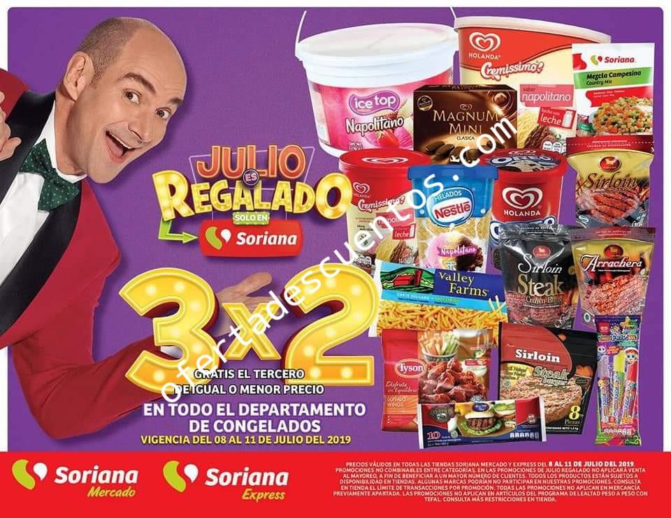 Oferta Estelar Julio Regalado 2019: 3×2 en Salchichonería, Quesos y Congelados del 8 al 11 de Julio