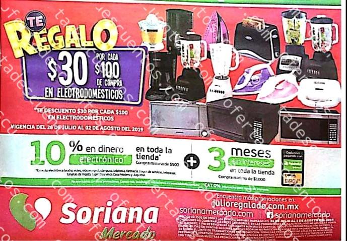 Oferta Estelar Julio Regalado 2019: $30 de descuento por cada $100 de compra en Electrodomésticos del 26 de Julio al 2 de Agosto