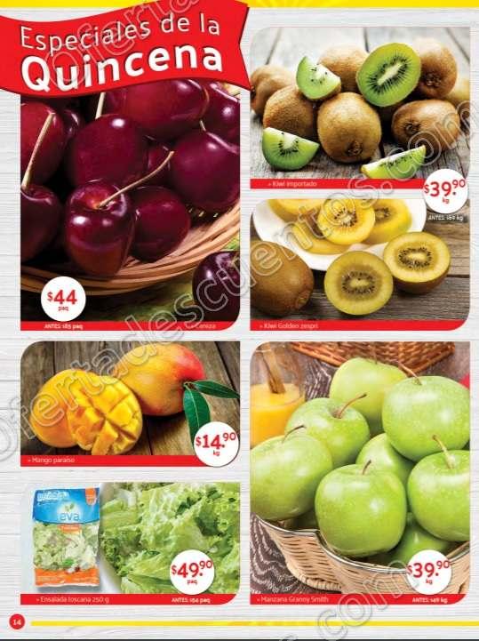 Superama: Especiales de la Quincena Ofertas en Frutas y Verduras al 15 de Julio 2019