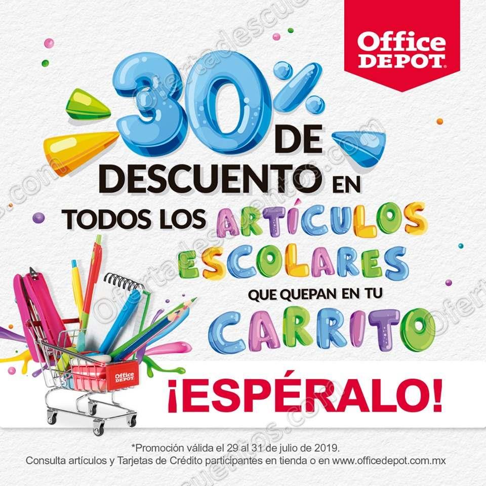 Office Depot: 30% de Descuento en Todos los Artículos Escolares que entren en el Carrito