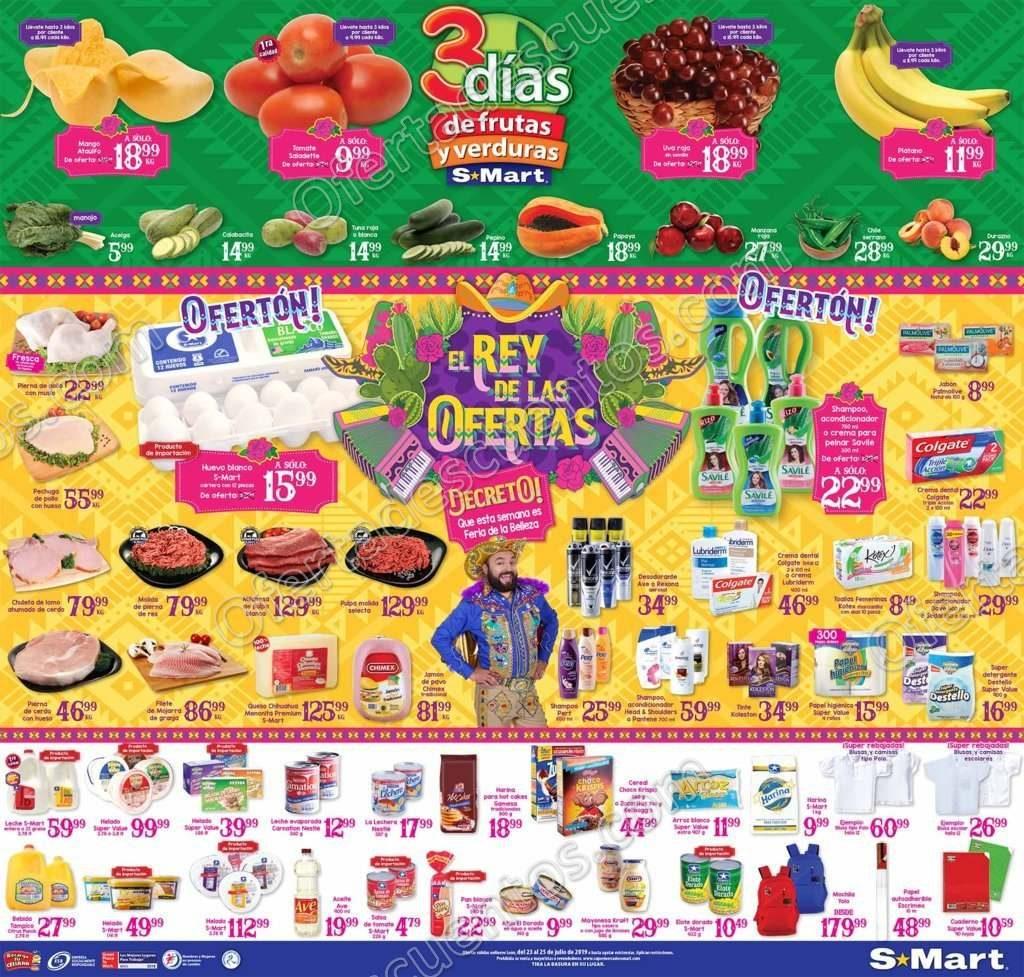 S-Mart: 3 Días de Ofertas en Frutas y Verduras del 23 al 25 de Julio 2019