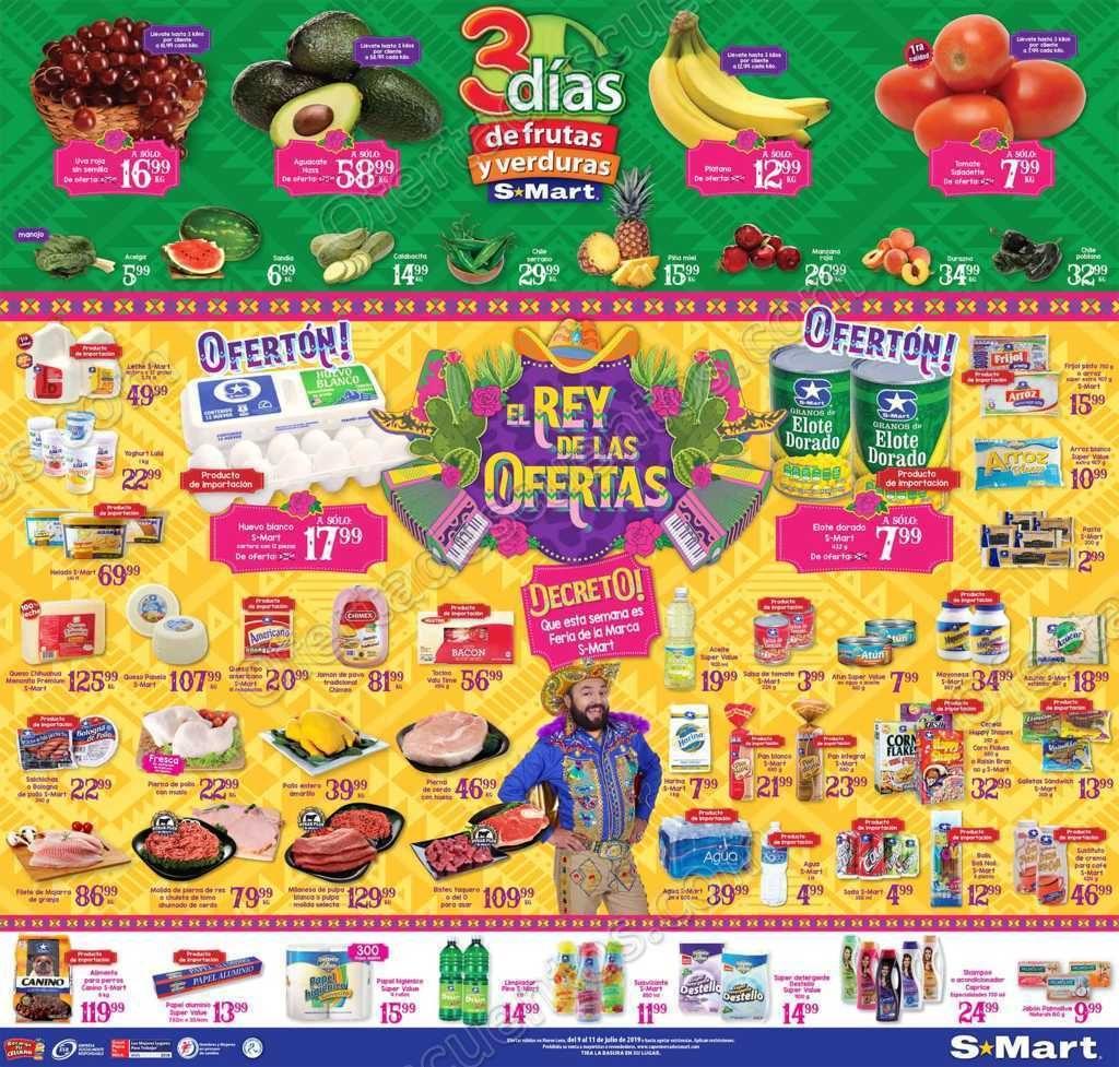 S-Mart: 3 Días de Ofertas en Frutas y Verduras del 9 al 11 de Julio 2019