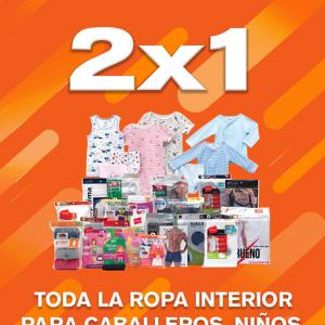 Temporada Naranja 2019 La Comer: 2×1 en Ropa Interior para Caballero, Niños, Niñas y Bebés