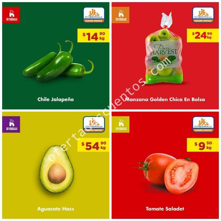 Chedraui: Ofertas del MartiMiércoles Frutas y Verduras 20 y 21 de Agosto 2019