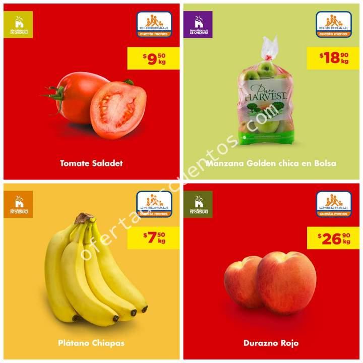 Chedraui: Ofertas MartiMiércoles de Frutas y Verduras 27 y 28 de Agosto 2019