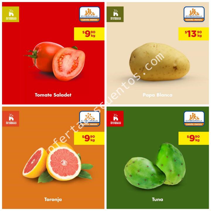 Chedraui: Ofertas Frutas y Verduras 6 y 7 de Agosto 2019