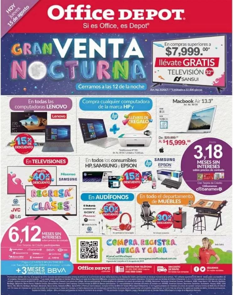 Venta Nocturna Office Depot 15 de Agosto 2019