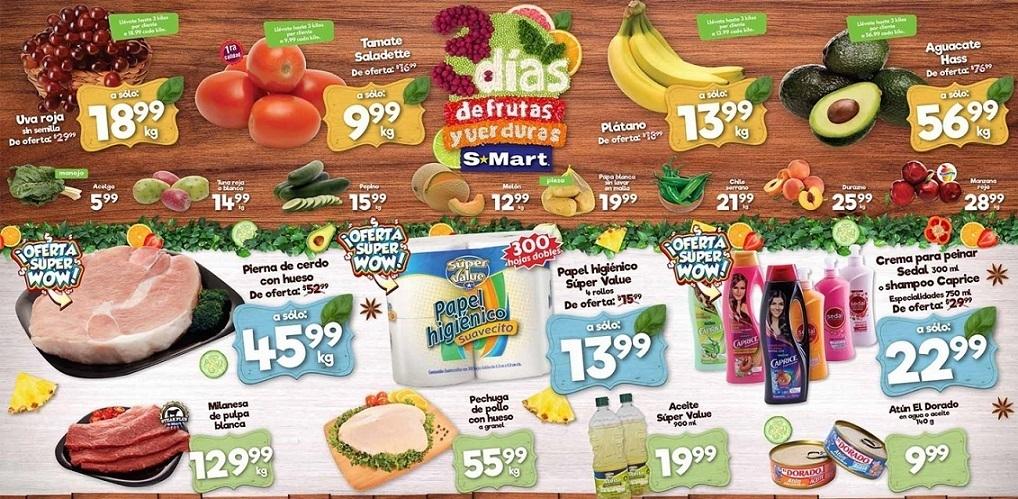 S-Mart: 3 Días de Ofertas en Frutas y Verduras del 13 al 15 de Agosto 2019