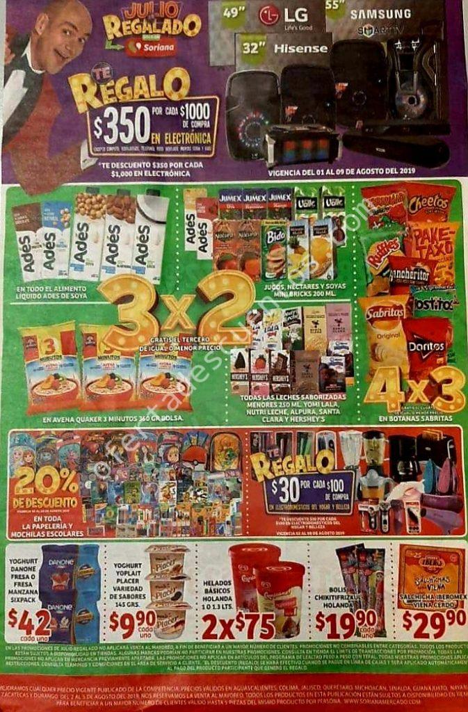 Folleto Ofertas Julio Regalado 2019 Soriana Mercado del 2 al 8 de Agosto