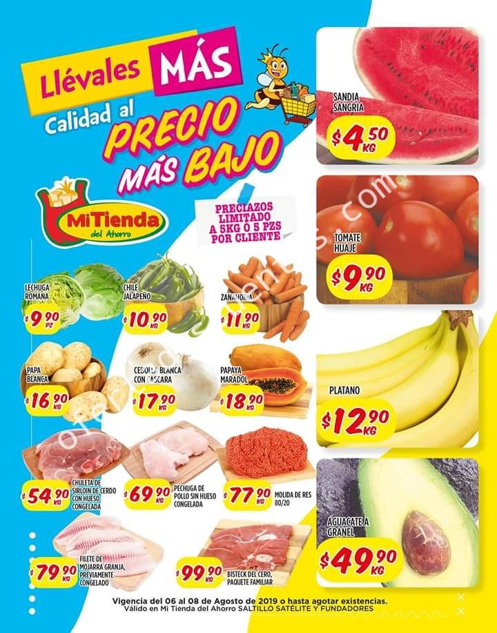 Mi Tienda del Ahorro: Ofertas Frutas y Verduras del 6 al 8 de Agosto 2019