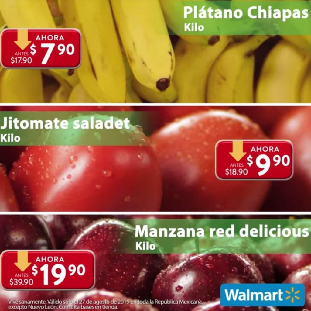 Ofertas Martes de Frescura Walmart 27 de Agosto 2019