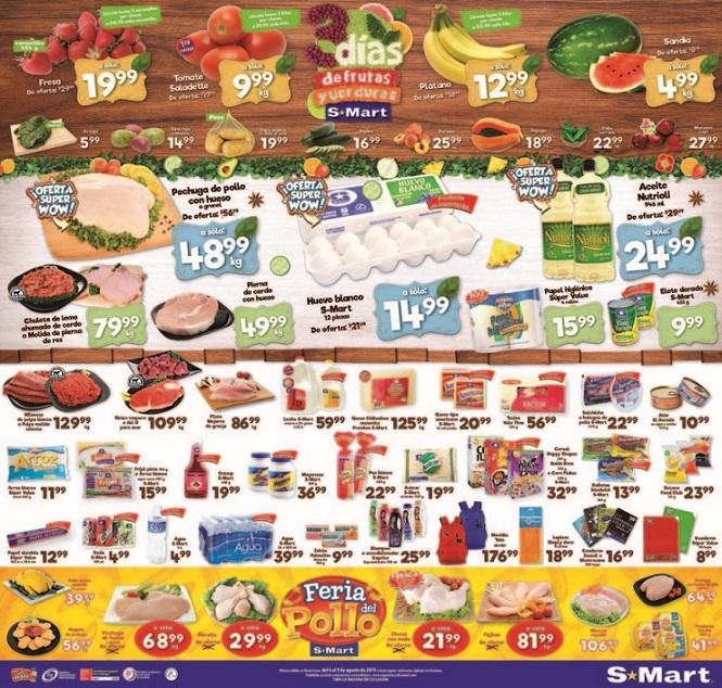 S-Mart: 3 Días de Ofertas en Frutas y Verduras del 6 al 8 de Agosto 2019
