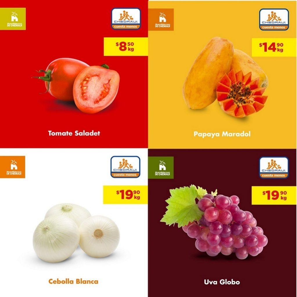 Chedraui: Frutas y Verduras 13 y 14 de Agosto 2019