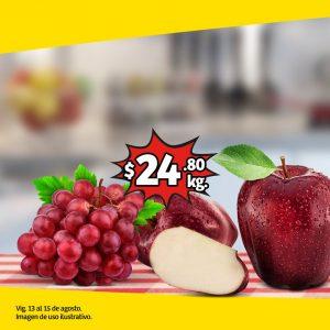 Soriana ofertas frutas y verduras 13 y 14 de agosto 2019