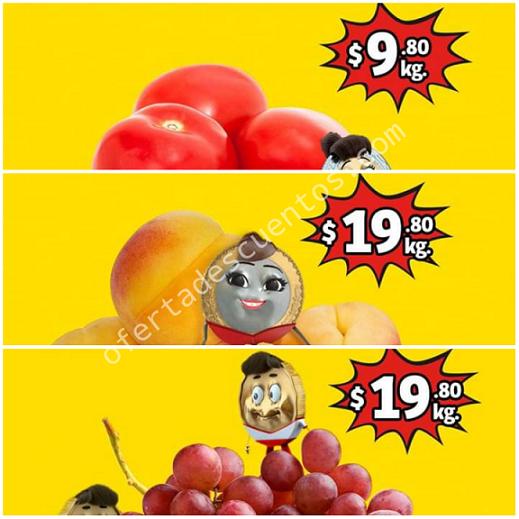 Soriana Mercado: Ofertas en Frutas y Verduras del 20 al 22 de Agosto 2019