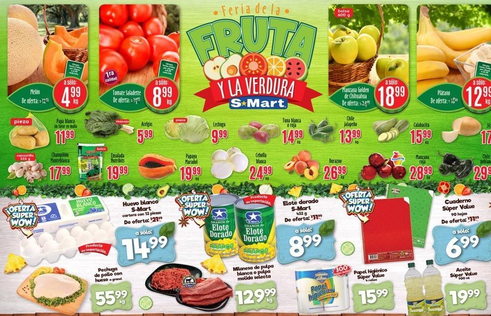 S-Mart: 3 Días de Ofertas en Frutas y Verduras del 20 al 22 de Agosto 2019
