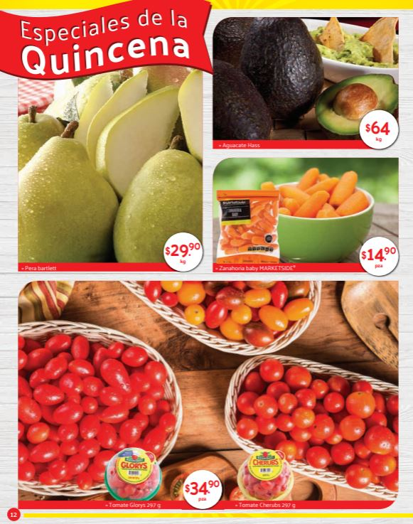 Superama: Especiales de la Quincena en Frutas y Verduras del 15 de Agosto al 2 de Septiembre 2019