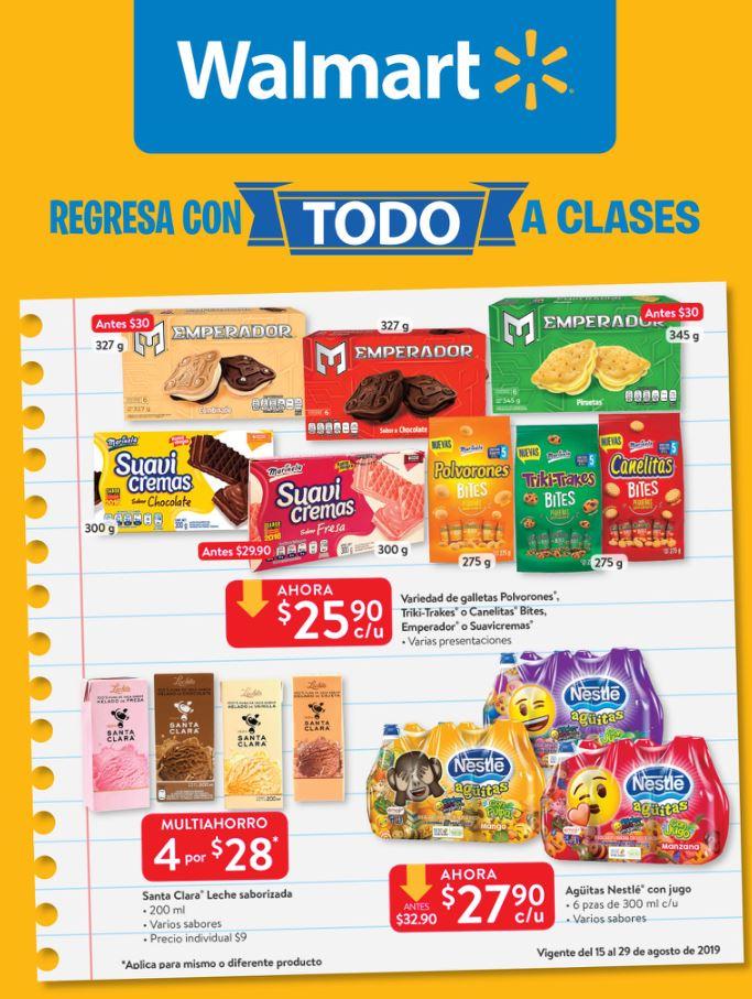 """Walmart: Folleto Ofertas """"Regresa con todo a clases"""" del 15 al 29 de Agosto 2019"""