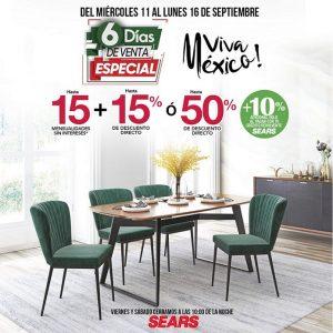 5 Días de Venta Especial Sears del 12 al 16 de Septiembre 2019