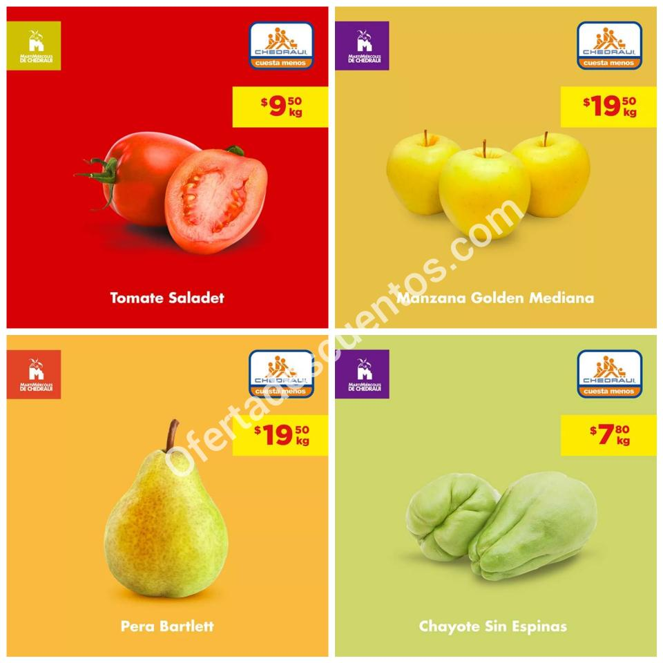 Chedraui: Ofertas MartiMiércoles de Frutas y Verduras 3 y 4 de Septiembre 2019