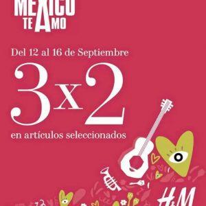 H&M: 3×2 en Artículos seleccionados del 12 al 16 de septiembre 2019