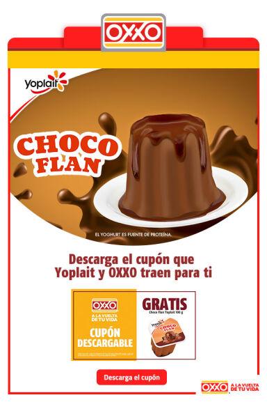Oxxo: Cupón para Choco Flan GRATIS