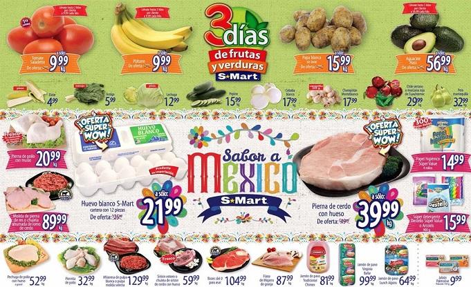 S-Mart: 3 Días de Ofertas en Frutas y Verduras del 24 al 26 de Septiembre 2019